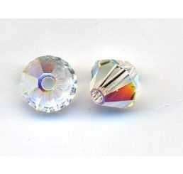 swarovski - bi-cono crystal ab mm. 5