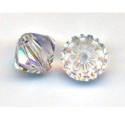 swarovski - bi-cono  crystal ab mm. 6