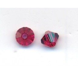 swarovski - bi-cono ruby mm. 4
