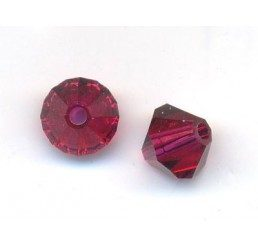 swarovski - bi-cono ruby mm. 5