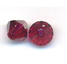 swarovski - bi-cono ruby mm. 6