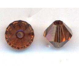 swarovski - bi-cono smoked topaz mm. 6