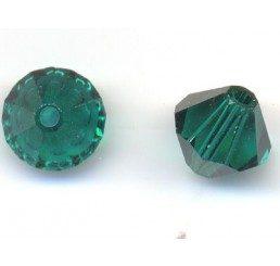 swarovski - bi-cono emerald mm.6