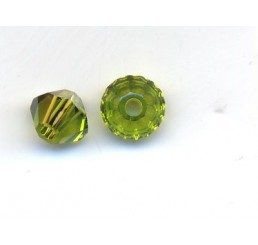 swarovski - bi-cono olivine mm. 4