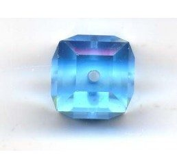 swarovski - cubo aquamarine mm. 8