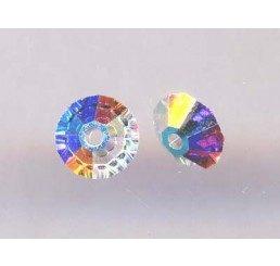 swarovski - bicono schiacciato crystal ab mm. 5