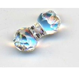 swarovski - modular beads mm. 11x6 crystal ab