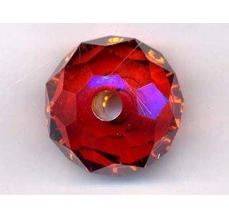 swarovski - briolette mm. 18 - red magma
