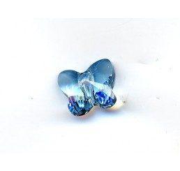 swarovski - farfallina acquamarine mm 8