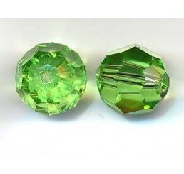 swarovski - perlina peridot mm. 10