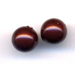 perla swarovski mm. 6 - maroon