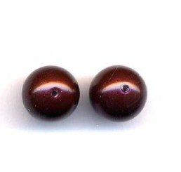 perla swarovski mm. 8 - maroon