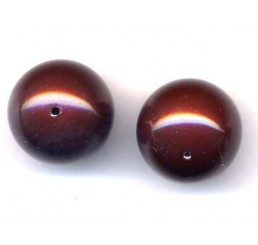 perla swarovski mm. 12 - maroon