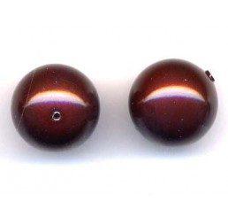 perla swarovski mm. 10- maroon