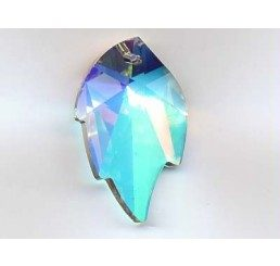 swarovski - foglia crystal ab mm. 26 x 16