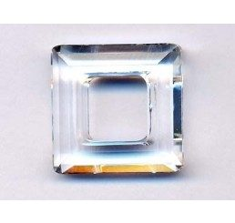 swarovski - square ring mm. 14 crystal