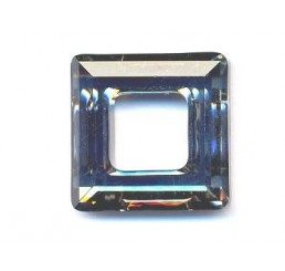 swarovski - square ring mm. 14 crystal dorado
