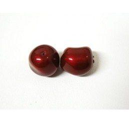 swarovski - perla irregolare mm. 10 bordeaux