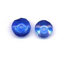 distanziatore in vetro - trottola blu