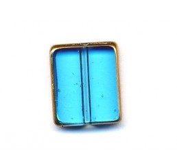 distanziatori rettangolari azzurri  bordo dorato