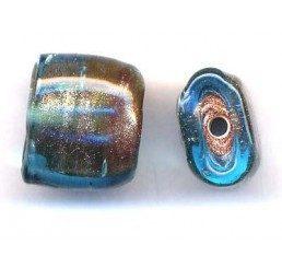 quadratto effetto glitter - trasp. azzurro/rosa