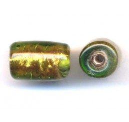 barilotto effetto glitter - trasp. verde/giallo