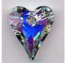 swarovski - cuore 17mm - crystal ab