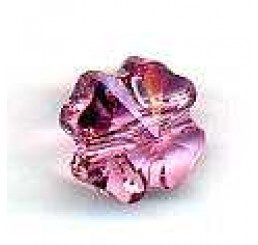 quadrifoglio swarovski light rose mm. 8
