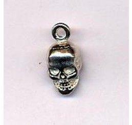 pendente in argento a forma di teschio