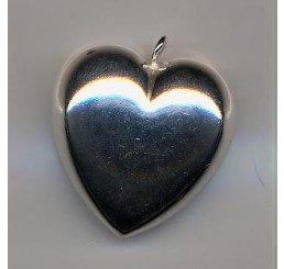 pendente in argento a forma di cuore