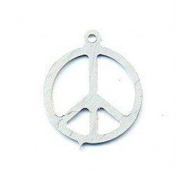 pendente a forma di simbolo di pace in argento