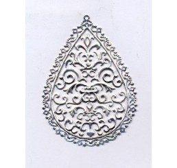 pendente traforato per orecchini cm 63x45
